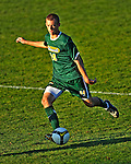 22 September 2008: University of Vermont Catamounts' backfielder Drew Smalley, a Sophomore from Beaverton, OR, in action against the Colgate University Raiders at Centennial Field, in Burlington, Vermont. The Raiders edged out the Catamounts 2-1, handing the Soccer Catamounts their first home loss of the 2008 season. ..Mandatory Photo Credit: Ed Wolfstein Photo