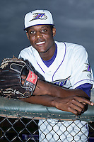 Winston-Salem Dash relief pitcher Euclides Leyer (6) poses for a photo prior to the game against the Myrtle Beach Pelicans at BB&T Ballpark on August 18, 2015 in Winston-Salem, North Carolina.  The game was rained out.  (Brian Westerholt/Four Seam Images)