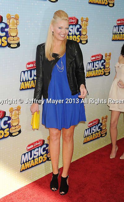 LOS ANGELES, CA- APRIL 27: Actress Melissa Peterman arrives at the 2013 Radio Disney Music Awards at Nokia Theatre L.A. Live on April 27, 2013 in Los Angeles, California.
