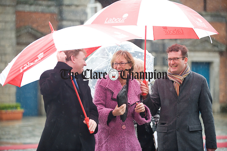 Mairead Mc Guinness arrives  for the Inauguration of President Michael D Higgins at Dublin Castle. Photograph by John Kelly.