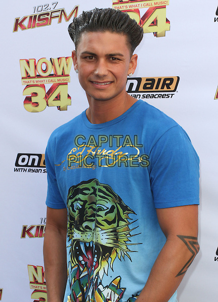 "PAUL ""PAULY D"" DELVECCHIO.KIIS-FM Hosts ""Now 34 And The Jersey Shore"" Pool Party held at Hollywood Tower, Hollywood, CA , USA, .10th July 2010..half length blue ed hardy t-shirt hair tattoo.CAP/ADM/KB.©Kevan Brooks/AdMedia/Capital Pictures."