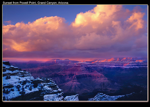 Before I added foreground to my compositions, I'd stand at the edge of the cliff. If I got lucky and there was a spectacular sunrise or sunset, I got a good image. Unfortunately, this is a low probability way of making imagery. Especially. if no one wants to wait with you.<br />