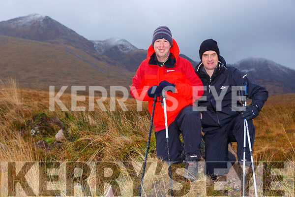 Niall Dennehy Glenflesk  and Pat Sheehan who has lost ten stone in the last year in training for his climb of Kilimanjero in the McGillicddy Reeks on Sunday morning