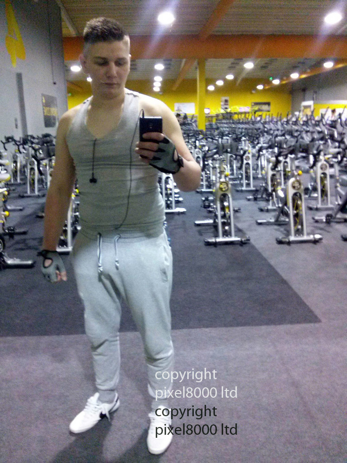 Pic shows: Polish national Pawel Relowicz<br /> <br /> seen here sweaty in the gym after a workout<br /> <br /> Police investigating the disappearance of Hull University student, Libby Squires, have arrested a 24-year-old Polish father of two on suspicion of abduction.<br /> <br /> Paweł Rełowicz, who works as a butcher in Malton, North Yorkshire, was detained at his rented home in Raglan Street, Hull late on Wednesday night.<br /> <br /> Mr Relowicz, who has been in the UK since 2014, lives with his wife, their two-year-old son and three month old baby.<br /> <br /> The family live in a smart terraced house just a few minutes away from where Miss Squire, 21, was last seen sitting on a bench just before midnight last Thursday.<br /> <br /> <br /> <br /> Picture by Pixel8000 07917221968