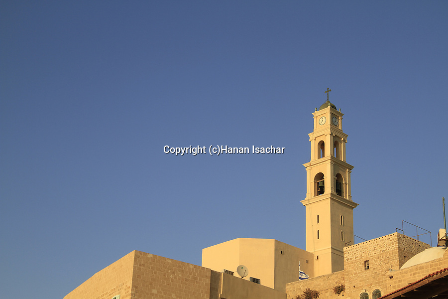Israel, Old Jaffa, a view of the Franciscan St. Peter's Church from Jaffa's port