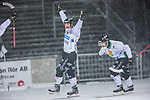 Uppsala 2014-01-12 Bandy  IK Sirius - GAIS Bandy :  <br />  GAIS Jacob Bucht jublar med GAIS Tobias Andersson efter att ha gjort 4-3<br /> (Foto: Kenta J&ouml;nsson) Nyckelord:  jubel gl&auml;dje lycka glad happy