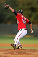 Atlanta Braves pitcher A.J. Holland #54 during an Instructional League game against the Houston Astros at Wide World of Sports on September 28, 2011 in Kissimmee, Florida.  (Mike Janes/Four Seam Images)