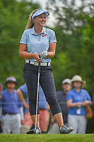 Brooke M. Henderson (CAN) shares a laugh on the tee at 11 during round 3 of the 2018 KPMG Women's PGA Championship, Kemper Lakes Golf Club, at Kildeer, Illinois, USA. 6/30/2018.<br /> Picture: Golffile | Ken Murray<br /> <br /> All photo usage must carry mandatory copyright credit (&copy; Golffile | Ken Murray)