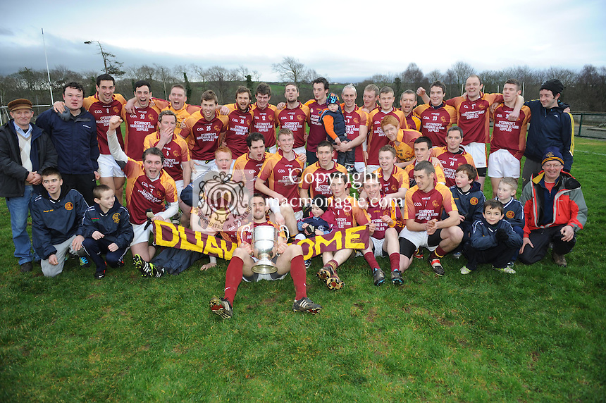 XXjob 06/01/2013* (SPORT) Duagh celebrate after defeating Beale  in the North Kerry football final at Frank Sheehy Park Listowel on Sunday . Picture: Eamonn Keogh ( MacMonagle, Killarney)