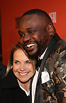 Katie Couric and Brian Tyree Henry attends the the Broadway Opening Night Performance After Party for 'Lobby Hero' at Bryant Park Grill on March 26, 2018 in New York City.