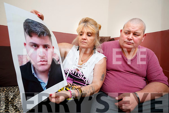 The Family of Twenty-year-old John Burke was last seen in Cork City on June 16th, are appealing for information on his whereabouts, pictured are his parents Winnie and John pictured on Tuesday afternoon last.