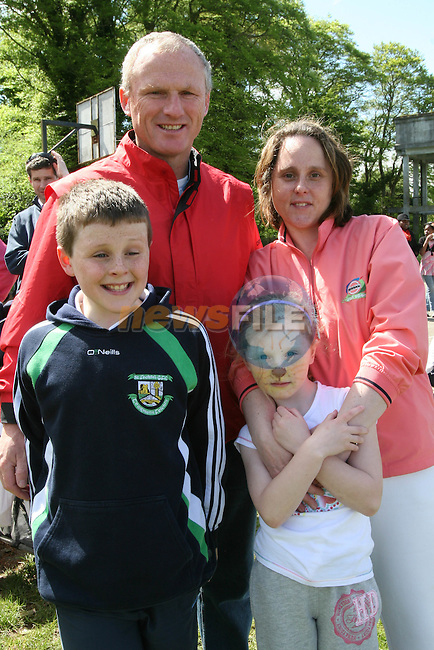 Nigel, Elizabeth, David and Rachel Beirth at the Fundraising BBQ in Termonfeckin National School...Photo NEWSFILE/Jenny Matthews.(Photo credit should read Jenny Matthews/NEWSFILE)....This Picture has been sent you under the condtions enclosed by:.Newsfile Ltd..The Studio,.Millmount Abbey,.Drogheda,.Co Meath..Ireland..Tel: +353(0)41-9871240.Fax: +353(0)41-9871260.GSM: +353(0)86-2500958.email: pictures@newsfile.ie.www.newsfile.ie.FTP: 193.120.102.198.
