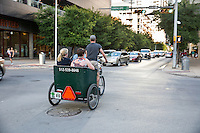 Austin has a large pedicab fleet serving downtown Austin, the entertainment district, Longhorn games, east side, and big events.
