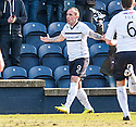 Raith Rovers' Mark Stewart (9) celebrates after he scores their first goal.