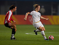 Amy Rodriguez. The US lost to Norway, 2-0, during first round play at the 2008 Beijing Olympics in Qinhuangdao, China.
