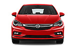 Car photography straight front view of a 2016 Opel Astra Dynamic 4 Door Hatchback Front View