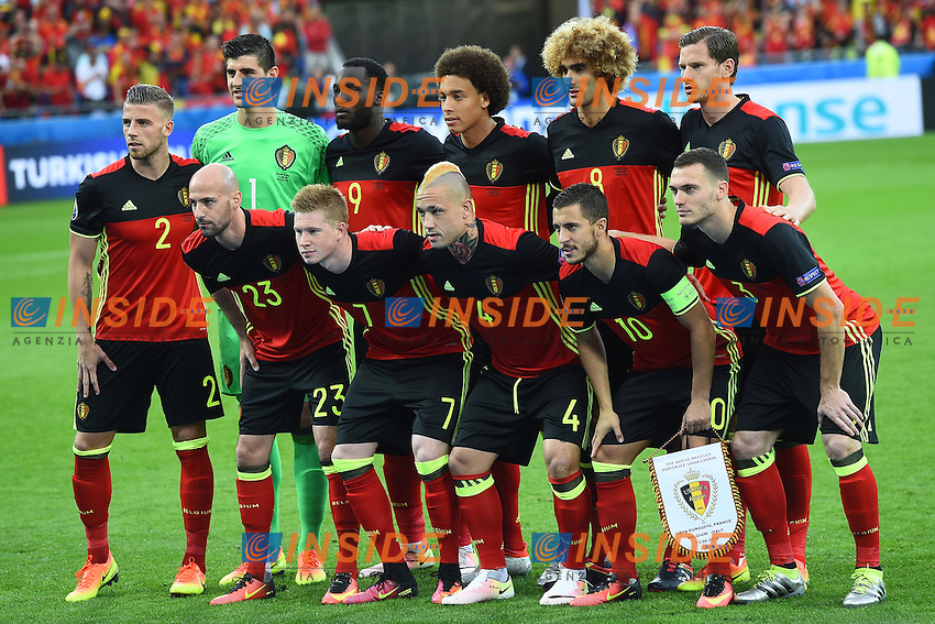 Formazione Belgio Team Belgium Line Up <br /> Lyon 13-06-2016 Stade de Lyon Footballl Euro2016 Belgium - Italy / Belgio - Italia Group Stage Group D. Foto Massimo Insabato  / Insidefoto