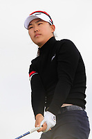 Min A Yoon (South Korea) on the 8th tee during Round 3 Matchplay of the Women's Amateur Championship at Royal County Down Golf Club in Newcastle Co. Down on Friday 14th June 2019.<br /> Picture:  Thos Caffrey / www.golffile.ie