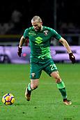 2nd December 2017, Stadio Olimpico Grande Torino, Turin, Italy; Serie A football, Torino versus Atalanta; Lorenzo De Silvestri on the ball