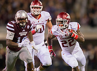 NWA Democrat-Gazette/JASON IVESTER<br /> Arkansas running back Rawleigh Williams (22) breaks away on a carry on Saturday, Nov. 19, 2016, at Davis Wade Stadium in Starkville, Miss., during the second quarter.
