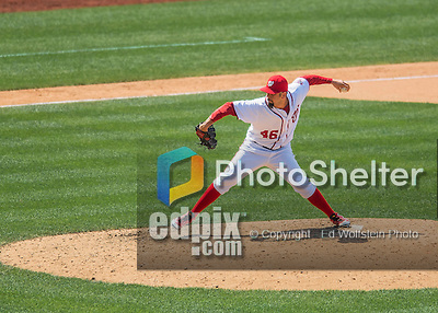 24 July 2016: Washington Nationals pitcher Oliver Perez on the mound against the San Diego Padres at Nationals Park in Washington, DC. The Padres defeated the Nationals 10-6 to take the rubber match of their 3-game, weekend series. Mandatory Credit: Ed Wolfstein Photo *** RAW (NEF) Image File Available ***
