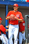 10 March 2012: Washington Nationals' starting pitcher Chien-Ming Wang takes to the field to start a Spring Training game against the New York Mets at Space Coast Stadium in Viera, Florida. The Nationals defeated the Mets 8-2 in Grapefruit League play. Mandatory Credit: Ed Wolfstein Photo