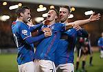 Fraser Aird celebrates after scoring the opener for Rangers at East End Park.