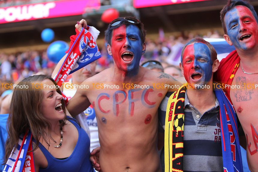 Crystal Palace Fans before the game - Crystal Palace vs Watford - NPower Championship Play-Off Final at Wembley Stadium, London - 27/05/13 - MANDATORY CREDIT: Simon Roe/TGSPHOTO - Self billing applies where appropriate - 0845 094 6026 - contact@tgsphoto.co.uk - NO UNPAID USE