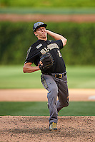 Travis Hosterman (21) of Hagerty High School in Oviedo, Florida during the Under Armour All-American Game on August 15, 2015 at Wrigley Field in Chicago, Illinois. (Mike Janes/Four Seam Images)