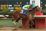 HOT SPRINGS, AR - FEBRUARY 19: Hawaakom #3, with Corey Lanerie aboard crossing the finish line in the Razorback Handicap at Oaklawn Park on February 19, 2018 in Hot Springs, Arkansas. (Photo by Justin Manning/Eclipse Sportswire/Getty Images)