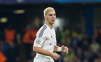 Aleksandar Dragovic of Dynamo Kiev (Dynamo Kyiv) scored a Own Goal for Chelsea but then scores the equaliser for Dynamo Kiev during the UEFA Champions League Group G match between Chelsea and Dynamo Kyiv at Stamford Bridge, London, England on 4 November 2015. Photo by Andy Rowland.