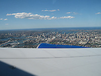 View from above Sydney Harbor