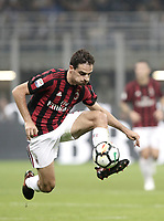 Calcio, Serie A: Milano, stadio Giuseppe Meazza, 15 ottobre 2017.<br /> Milan's Giacomo Bonaventura in action during the Italian Serie A football match between Inter and Milan at Giuseppe Meazza (San Siro) stadium, October15, 2017.<br /> UPDATE IMAGES PRESS/Isabella Bonotto