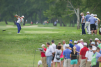 Rickie Fowler lets his drive rip on the 14th during the opening round of the US PGA Championship at Valhalla (Photo: Anthony Powter) Picture: Anthony Powter / www.golffile.ie