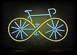 Illustrative image of bicycle with green wheels representing go green concept