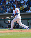 Chicago Cubs Jonathan Herrera (19) during a spring training game against the San Diego Padres on March 9, 2015 at Sloan Park in Mesa, AZ. The Padres beat the Cubs 6-3.