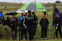 Nacho Elvira (ESP) on the 4th tee during Round 1 of the Betfred British Masters 2019 at Hillside Golf Club, Southport, Lancashire, England. 09/05/19<br /> <br /> Picture: Thos Caffrey / Golffile<br /> <br /> All photos usage must carry mandatory copyright credit (© Golffile | Thos Caffrey)