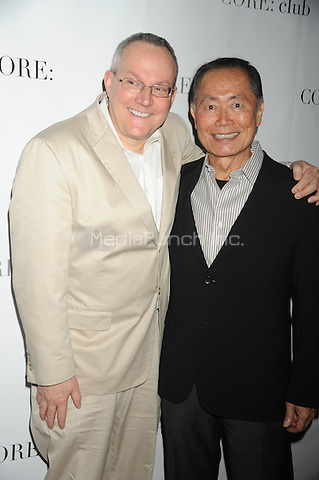 Brad Altman and George Takei at the 'Celebrity Apprentice' Panel Discussion at The Core Club on May 22, 2012 in New York City.. Credit: Dennis Van Tine/MediaPunch