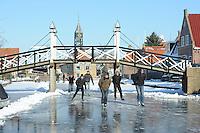 SCHAATSEN: HINDELOOPEN: Elfstedenroute, 06-02-2012, ©foto: Martin de Jong