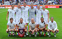 Starting Eleven of team USA during the FIFA Women's World Cup at the FIFA Stadium in Moenchengladbach, Germany on July 13th, 2011.