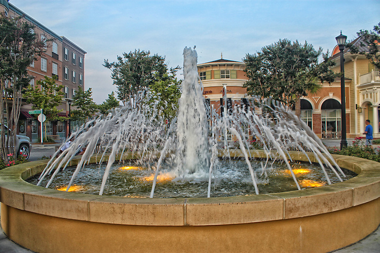 Fountain at Myrtle Beach