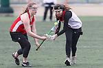 Santa Barbara, CA 02/19/11 - Elizabeth Fishman (Chaparral #9) and Abby Heidt (Memorial #17) in action during the Memorial - Chaparral game at the 2011 Santa Barbara Shootout.