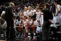 SPOKANE, WA - MARCH 26, 2011: Stanford Women's Basketball vs University of North Carolina, NCAA West Regionals on March 26, 2011.