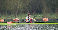 Caversham. Berkshire. UK<br /> Women's Single Scull Emily CARMICHAEL,<br /> 2016 GBRowing U23 Trials at the GBRowing Training base near Reading, Berkshire.<br /> <br /> Monday  11/04/2016 <br /> <br /> [Mandatory Credit; Peter SPURRIER/Intersport-images]