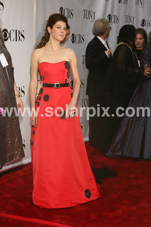 **ALL ROUND PICTURES FROM SOLARPIX.COM**.**SYNDICATION RIGHTS FOR UK, SPAIN, PORTUGAL, AUSTRALIA, S.AFRICA & DUBAI (U.A.E) ONLY**.The 62nd Annual Tony Awards at the Radio City Music Hall in New York in the USA..This pic:Marisa Tomei.JOB REF:6635-PHZ/Sylvain Gaboury   DATE:15_06_08 .**MUST CREDIT SOLARPIX.COM OR DOUBLE FEE WILL BE CHARGED* *UNDER NO CIRCUMSTANCES IS THIS IMAGE TO BE REPRODUCED FOR ANY ONLINE EDITION WITHOUT PRIOR PERMISSION*