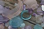 Broken glass at Keyes Ranch in Joshua Tree NP