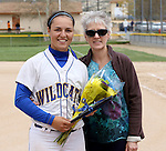Melanie Mecham at the Sophomore Day celebration after the first game of the Western Nevada College softball doubleheader on Saturday, April 30, 2016 at Pete Livermore Sports Complex. Photo by Shannon Litz/Nevada Photo Source