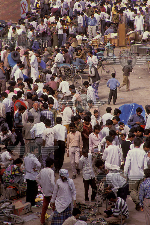 Men at a second hand market.