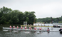 Henley-on-Thames. United Kingdom.  Heat of the Thames Challenge Cup. Bucks  Molesey BC and Kingston RC. 2017 Henley Royal Regatta, Henley Reach, River Thames. <br /> <br /> 08:39:27  Wednesday  28/06/2017   <br /> <br /> [Mandatory Credit. Peter SPURRIER/Intersport Images.