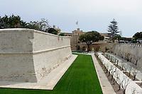 Stadtmauer von Mdina, Malta, Europa
